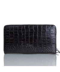 Клатч мужской кожаный KARYA 0704-53 черный кроко