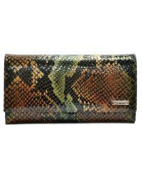Кошелек женский кожаный Desisan 057-586 зеленая змея