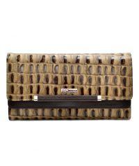 Кошелек женский кожаный Desisan 724-592 бежевый крупный кроко