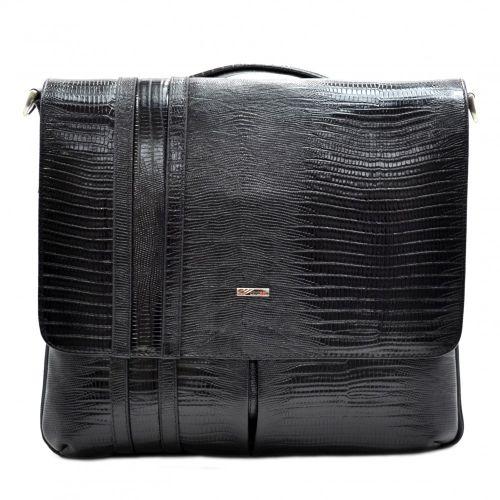 Портфель кожаный Desisan 1337-143 черный лазер