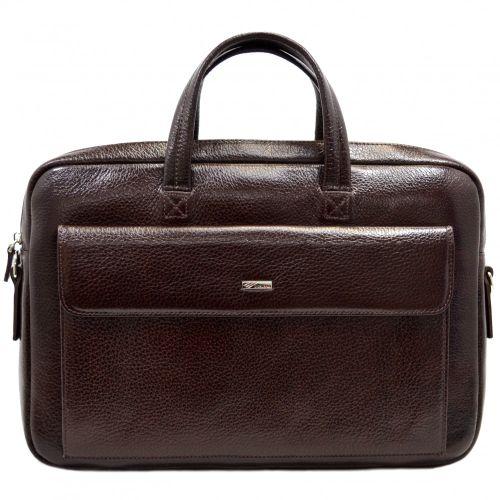 Портфель кожаный Desisan 340-019 коричневый флотар