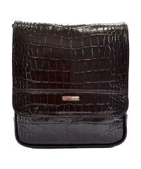 Барсетка кожаная мягкая DESISAN 417-19 коричневый кроко