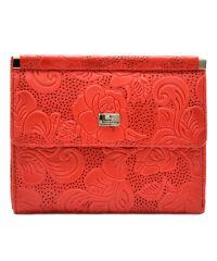 Кошелек женский кожаный Desisan 105-424 красные цветы