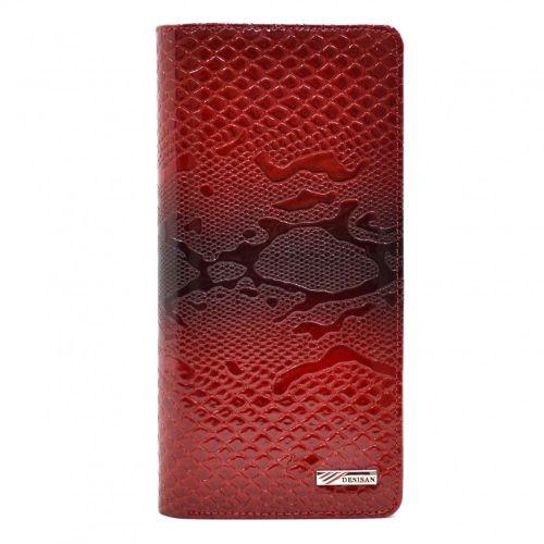 Кошелек женский кожаный Desisan 321-500 красный узор лак