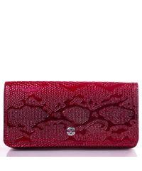 Кошелек женский кожаный KARYA 0939-019 красный узор