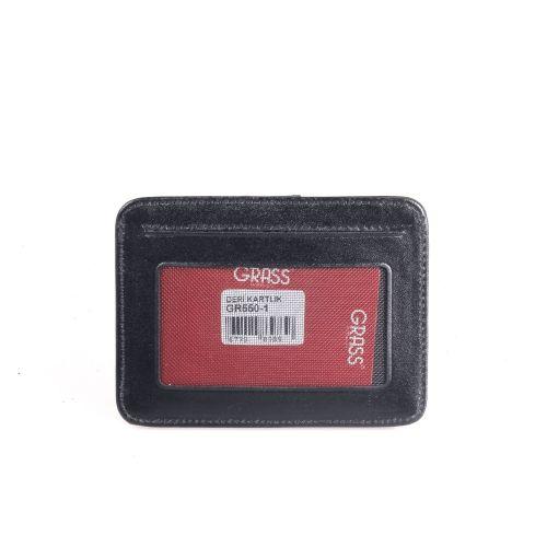 Кредитница+автодокументы кожа GRASS 550-1 черный гладкий