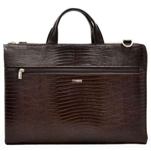 Портфель кожаный Desisan 1349-142 коричневый лазер