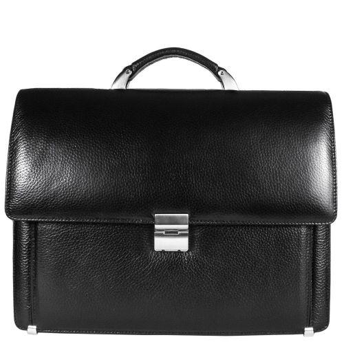 Портфель кожаный Desisan 319-011 черный флотар