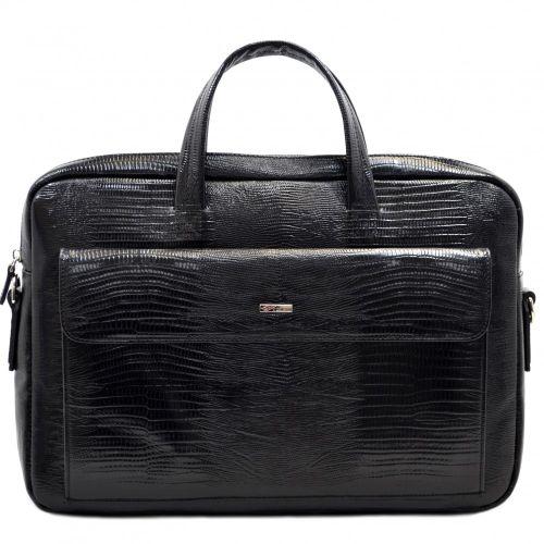 Портфель кожаный Desisan 340-143 черный лазер
