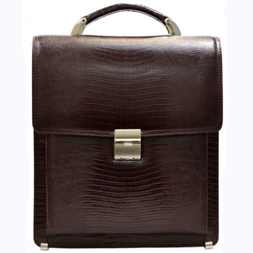 Портфель кожаный Desisan 5009-142 коричневый лазер