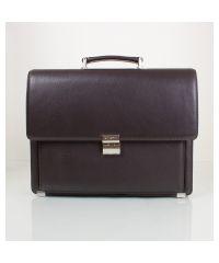 Портфель кожаный KARYA 0144-39 коричневый флотар