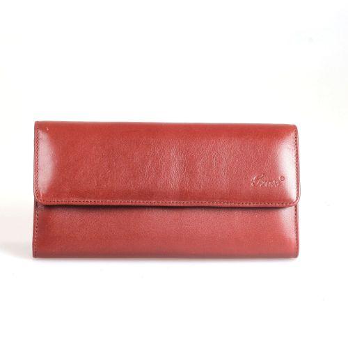 Кошелек женский кожаный GRASS 124-3 рыжий гладкий