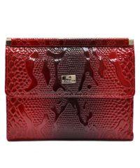 Кошелек женский кожаный Desisan 105-500 красный узор