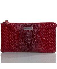 Кошелек женский кожаный KARYA 1075-019 красный узор