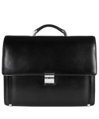 Портфель кожаный Desisan 319-1 черный гладкий