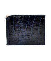 Портмоне-Зажим кожаный CANPEL 070-13 синий кроко