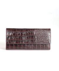 Кошелек женский кожаный GRASS 124-30 коричневый кроко