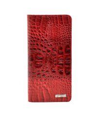 Кошелек женский кожаный Desisan 321-580 красный кроко лак