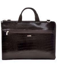 Портфель кожаный Desisan 1349-19 коричневый кроко