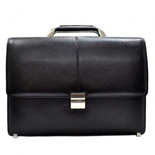 Портфель кожаный Desisan 5006-011 черный флотар