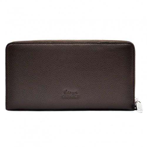 Клатч мужской кожаный KARYA 0706-39 коричневый флотар
