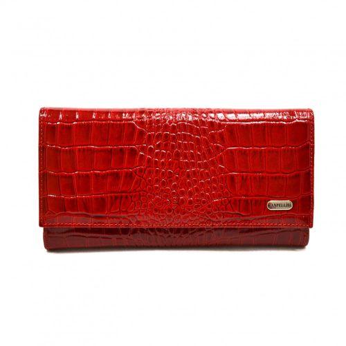 Кошелек женский кожаный CANPEL 157-142 красный кроко лак