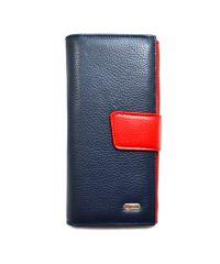 Кошелек женский кожаный CANPEL 700-241 DM сине-красный флотар