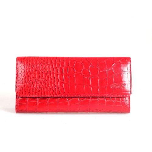 Кошелек женский кожаный GRASS 124-31 красный кроко