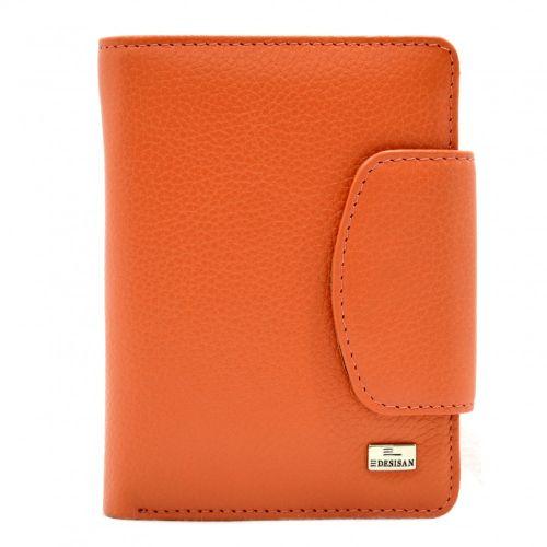 Кошелек женский кожаный Desisan 086-374 оранжевый флотар