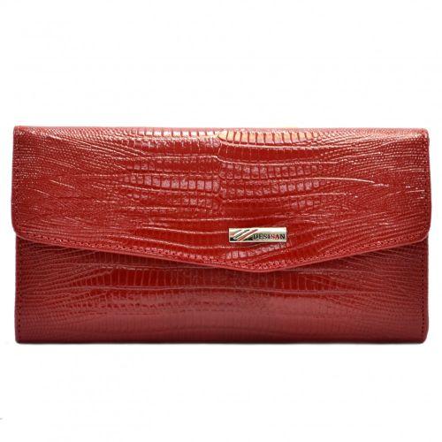 Кошелек женский кожаный Desisan 113-131 красный лазер