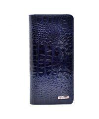Кошелек женский кожаный Desisan 321-582 синий кроко лак