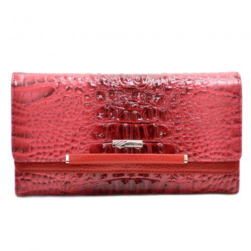 Кошелек женский кожаный Desisan 724-580 красный кроко лак