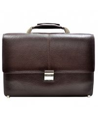 Портфель кожаный Desisan 5006-019 коричневый флотар
