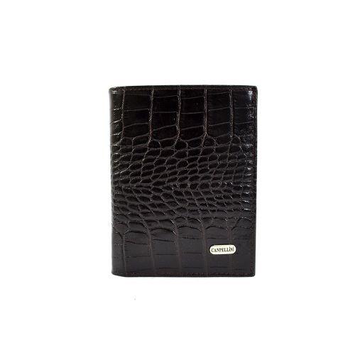 Портмоне кожаное CANPEL 505-11 коричневый кроко