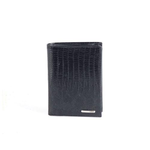 Портмоне кожаное GRASS 325-32 черный лазер