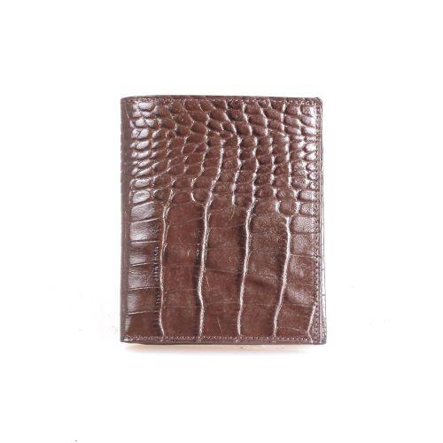 Портмоне кожаное GRASS 409-30 коричневый кроко