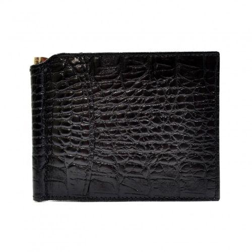 Портмоне-Зажим кожаный CANPEL 070-2 черный кроко