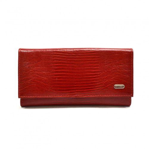 Кошелек женский кожаный CANPEL 157-15 красный лазер