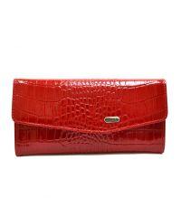Кошелек женский кожаный CANPEL 2029-142 красный кроко лак