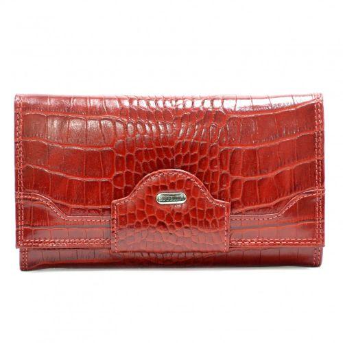 Кошелек женский кожаный CANPEL 2033-85 красный кроко