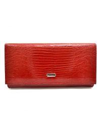 Кошелек женский кожаный CANPEL 2035-15 красный лазер
