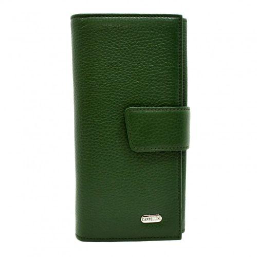 Кошелек женский кожаный CANPEL 700-299 зеленый флотар