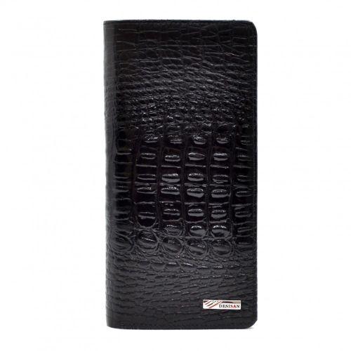 Кошелек женский кожаный Desisan 321-583 черный кроко лак