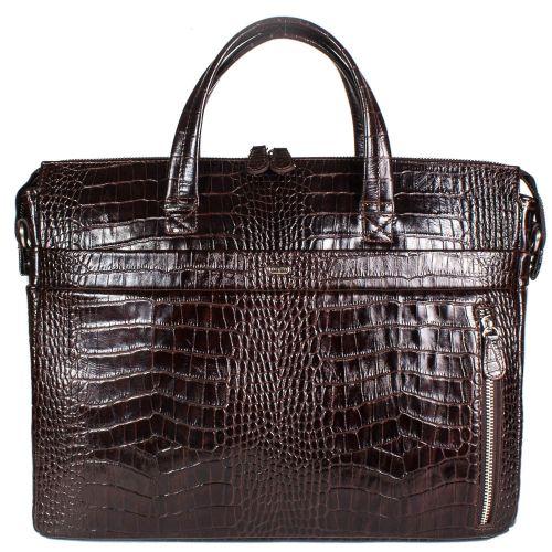 Портфель кожаный Desisan 1335-19 коричневый кроко