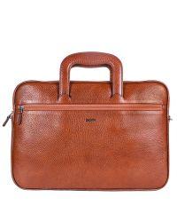Портфель кожаный Desisan 321-015 рыжий флотар