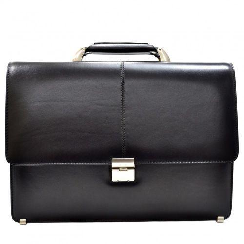 Портфель кожаный Desisan 5006-1 черный гладкий