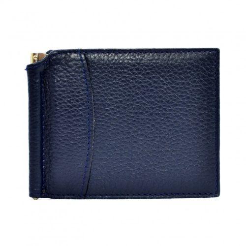 Портмоне-Зажим кожаный CANPEL 070-241 синий флотар