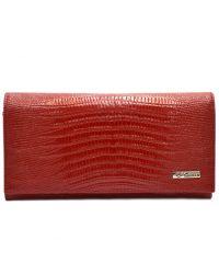 Кошелек женский кожаный Desisan 057-131 красный лазер