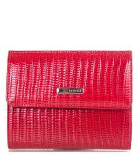 Кошелек женский кожаный KARYA 1065-074 красный лазер