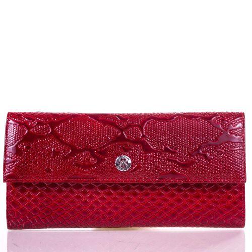 Кошелек женский кожаный KARYA 1142-019 красный узор